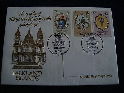 Falkland Islands - Royal Wedding 1981 First Day Cover