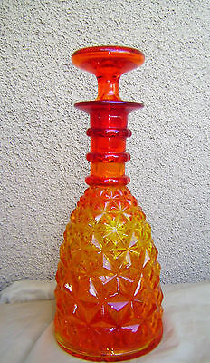 EAPG Amberina Decanter Amber to Ruby Pressed Glass Pairpoint?