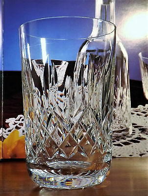 """WATERFORD CRYSTAL LISMORE 10 ozs TUMBLERS GLASSES 600/318- 4.5"""""""