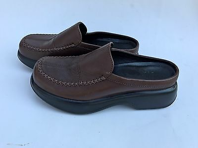 f08dd4590eb06 DANSKO Womens clogs mules slides brown leather 38 US 7.5-8 EXCELLENT  CONDITION!