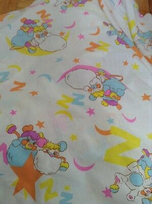 Vintage Popples Fabric Bed Sheet