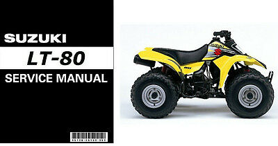 1987-2006 Suzuki LT-80 QuadSport Service & Parts Manual on a CD