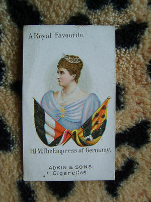 Cigarette Card : Adkin & Sons : A Royal Favourite (1900) : Empress of Germany
