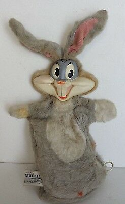 VINTAGE 1960's U.S.A. MATTEL BUGS BUNNY TALKING HAND PUPPET