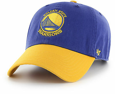 80db0d3ae52 47 BRAND GOLDEN State Warriors Adjustable Clean Up Dad Hat Cap Royal ...