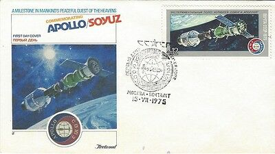 1975 USSR - Apollo-Soyuz Space Mission FDC with Fleetwood cachet #2
