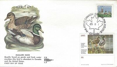 1985 Canadian Wildlife Habitat Conservation stamp FDC with Gill Craft cachet