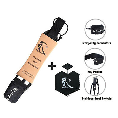 8' SUP Paddle Board Straight Ankle Knee Leash Core Leg Rope Accessories, 7mm