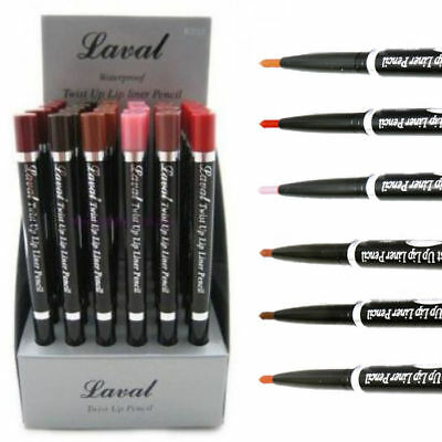 Laval Waterproof Twist Up Lip Liner Pencil - Various Shades Available