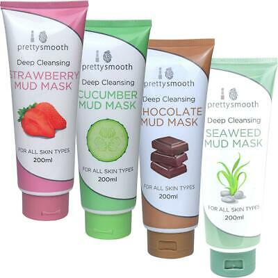Pretty Deep Cleansing Mud Face Mask Strawberry Seaweed or Fresh Cucumber