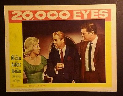 Super Rare 1960 Lobby Card - 20,000 Eyes - Merry Anders, James Brown, 11x14, #5