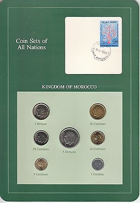 Coins of All Nations Set - Morocco - 7 Coins - 1974-80