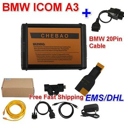 BMW ICOM A3 Professional Diagnostic Tool Hardware V1.38 +Free BMW 20Pin Cable