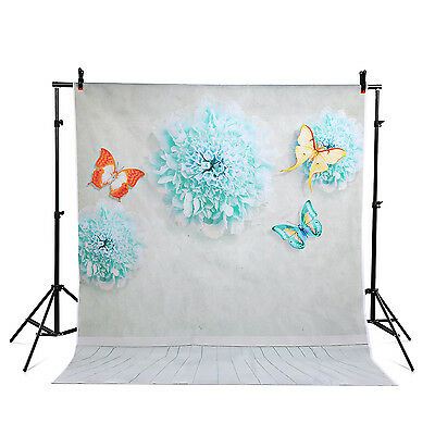 vinyl 5x7ft Photography Background butterfly flowers photo backdrops studio Wall