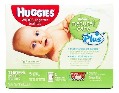 Huggies Natural Care Plus Baby Wipes 1160 Ct., FREE SHIPPING