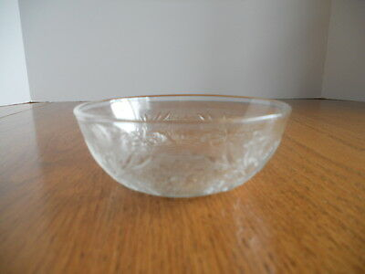 Antique/Vintage EAPG Sandwich Crystal Pattern Berry Bowl, Hocking Glass Co.