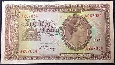 Luxembourg 10 Francs 1943 Allied WW2 Liberation Issue