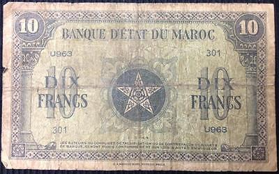 Morocco 10 Francs 1944 Allied WW2 Liberation Issue