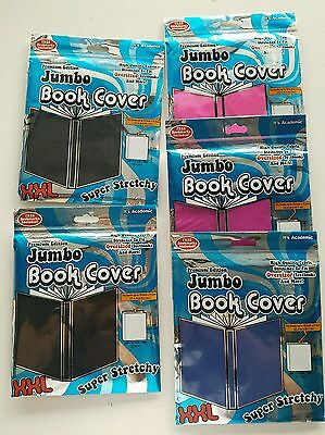5  It's Academic Premium Edition Jumbo Book Covers XXL Super Stretchy Assorted