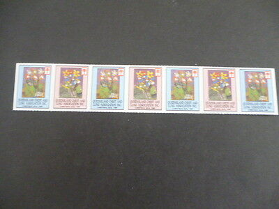 Queensland chest and lung Association Christmas seal mnh strip