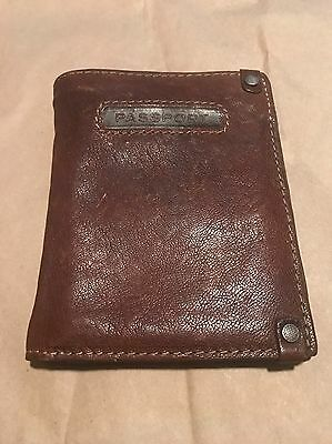 Fossil Leather BiFold Passport Wallet