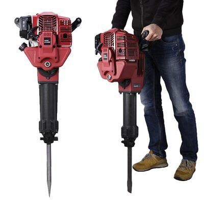 1700 Watt Demolition Jack Hammer Gas Powered Concrete Breaker Punch Chisel Bits