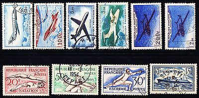 French postage stamps.