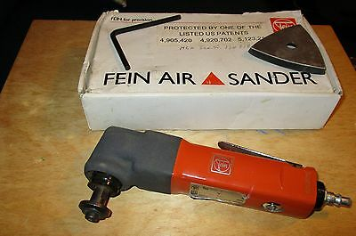 FEIN AIR SANDER  MOx 6 25  90 PSI  with 40  80 Grit sanding pieces made in Japan