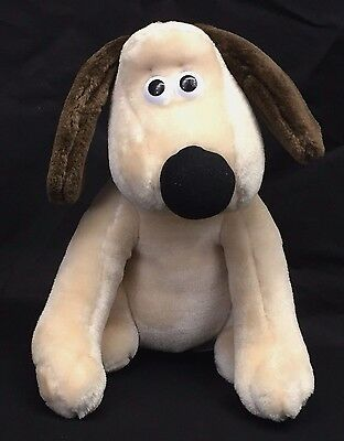 "Born To Play Wallace & Gromit Puppy Dog 10"" Plush Stuffed Animal Vintage 1989"