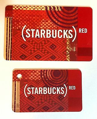 Starbucks Coffee Red & Mini Limited Edition Card 2009 US & CANADA VERSION NEW