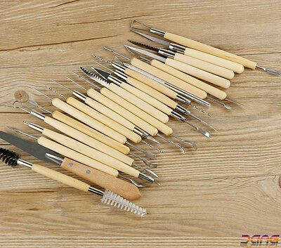 22PCS Sculpting Tool Pro Polymer Clay Set Wood Models Art Projects Pottery Tool