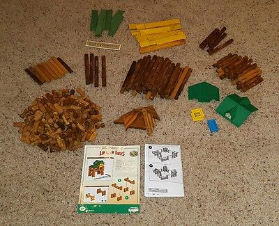 356 Lincoln Logs Pieces