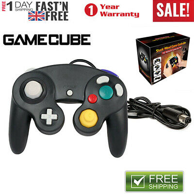 Shock Video Game Controller Pad for Nintendo Game Cube GC& Wii Black Gift Wired