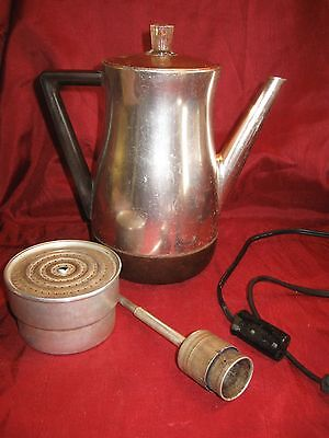 Vintage West Bend Coffee Percolator Flavo-Matic Copper Color Coffee Pot