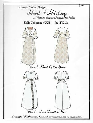 Dolls 18 inch Historical Sewing Pattern for 1910s