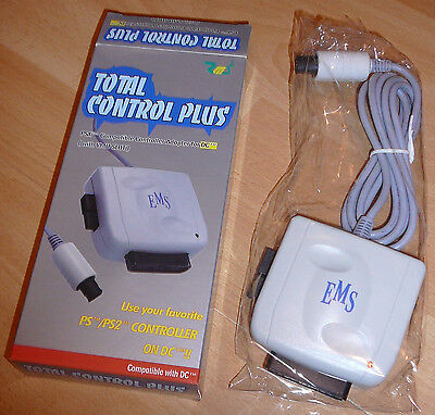 New Total Control PLUS for Sega Dreamcast Use PSX Playstation 2 controller on DC