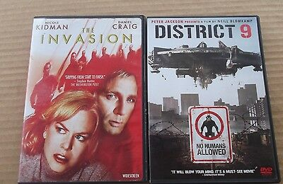 2 Alien Sci-fi dvd movies THE INVASION & DISTRICT 9 thriller films set FREESHIPP