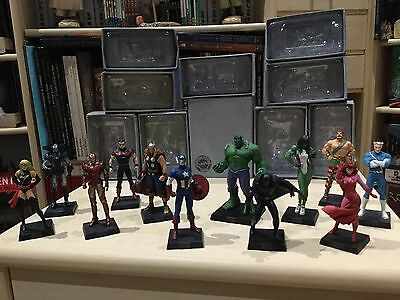 Figurines Eaglemoss Marvel Avengers Capitain America Iron Man Black Panther