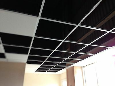 40m2  Suspended Ceiling Pack, Grid & trim and wipe clean tiles