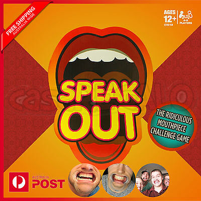 Speak Out Board Funny Family Party Game Mouthguard Challenge Xmas Toy Gift