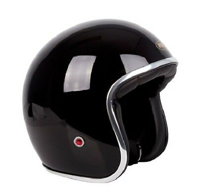 S Gloss Black Challenger 'CLASSIC' Open Face Helmet AS1698 Standards Approved
