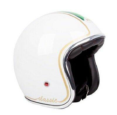 M White/Italy Challenger 'CLASSIC' Open Face Helmet  RXT AS1698 Standards