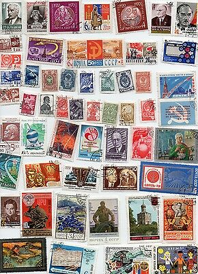 RUSSIA Stamps 100 All Different and Off Paper