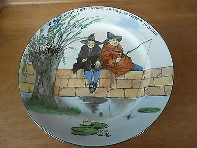 """ROYAL DOULTON PLATE """"THE GALLENT FISHERS"""" CIRCA 1920s"""