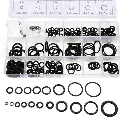 225Pcs Rubber O Ring Assortment Set Hydraulic Plumbing Gasket Paintball Seal Kit