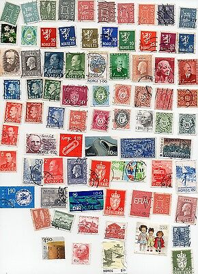NORWAY Stamps 80 All Different and Off Paper