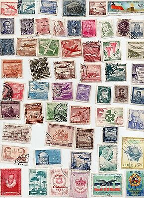 CHILE Stamps 85 All Different and Off Paper