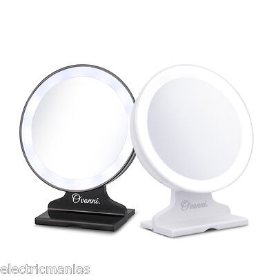 5X Magnifying LED Light Vanity Bathroom Make-up Cosmetic Tabletop Mirror Round