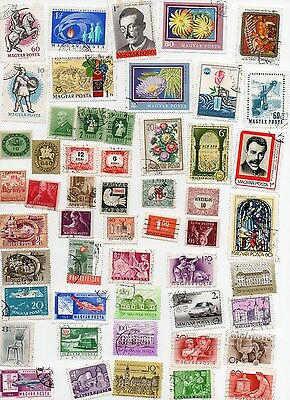 HUNGARY Stamps 370 All Different and Off Paper