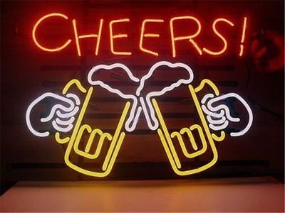 """New Cheers Beer Lager Pub Bar Neon Sign 17""""x14"""" Ship From USA"""